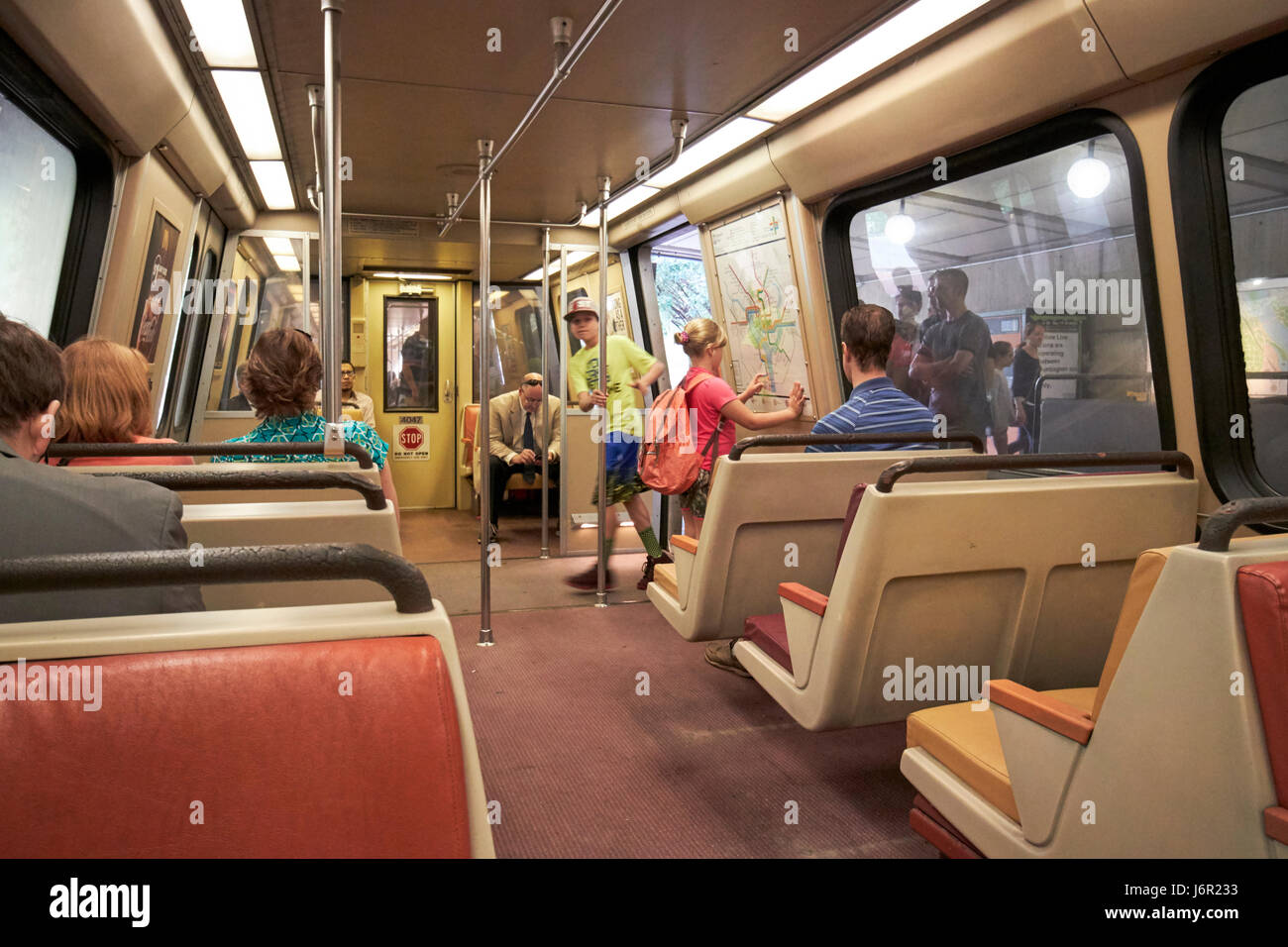 inside old 4000 series breda car metro underground train system stock photo royalty free image. Black Bedroom Furniture Sets. Home Design Ideas