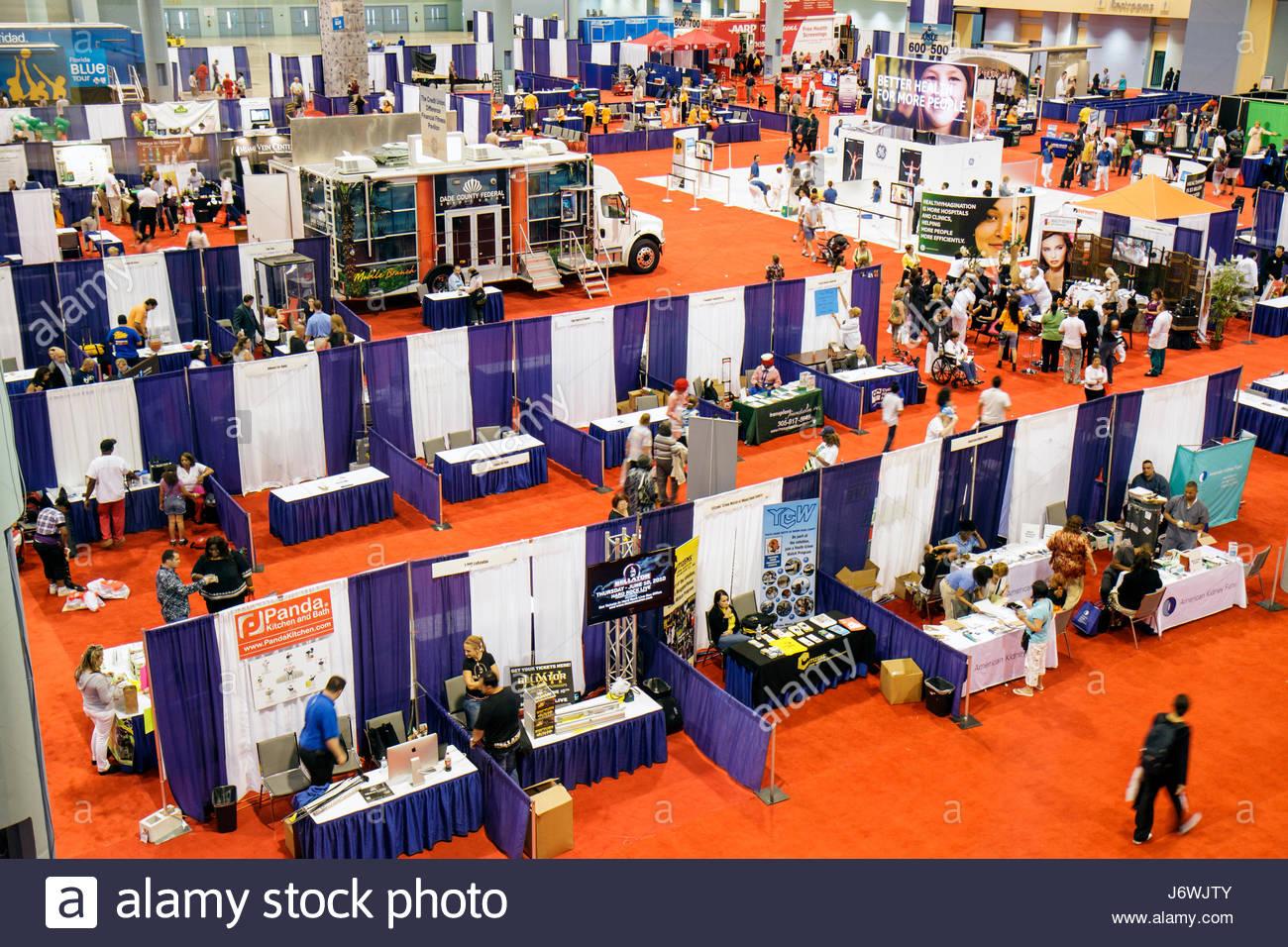 Miami Beach Miami Florida Beach Convention Center centre Health and Fitness Expo exhibitors - Stock Image