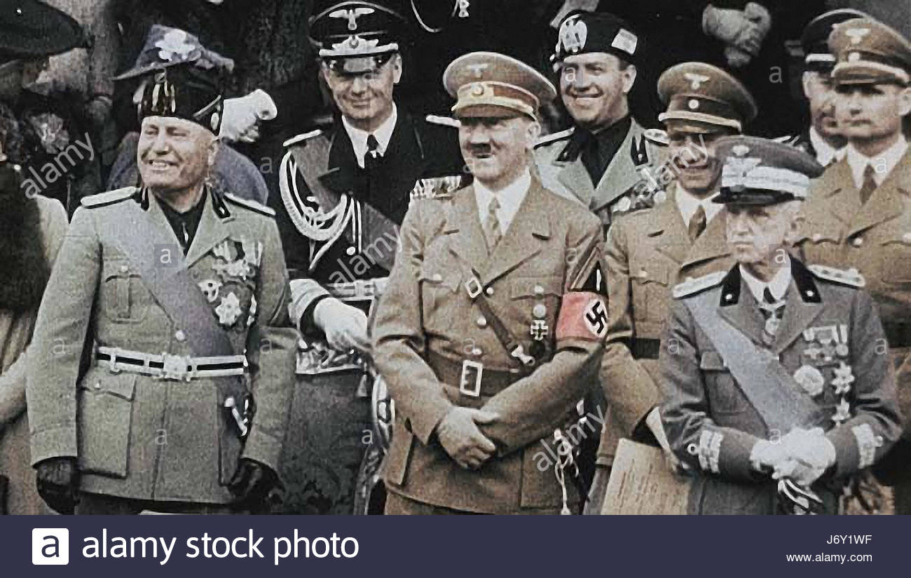 an analysis of a man who would become the associate of adolf hitler and benito mussolini