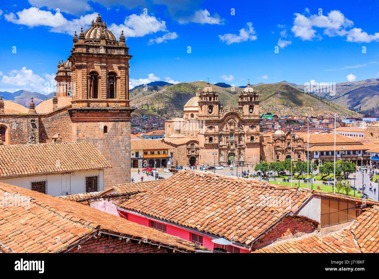 Cusco, Peru the historic capital of the Inca Empire. Plaza de Armas. - Stock Image