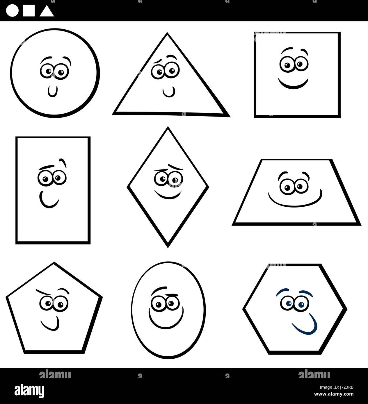basic shapes stock photos   basic shapes stock images alamy Owl Drawings Owl Psychedelic Art