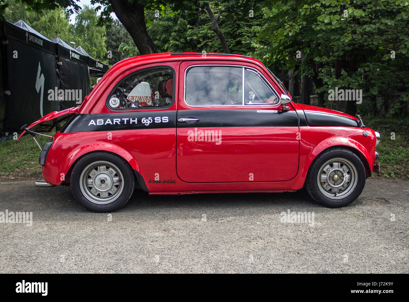 a fiat 500 abarth classic car stock photo royalty free image 142044615 alamy. Black Bedroom Furniture Sets. Home Design Ideas