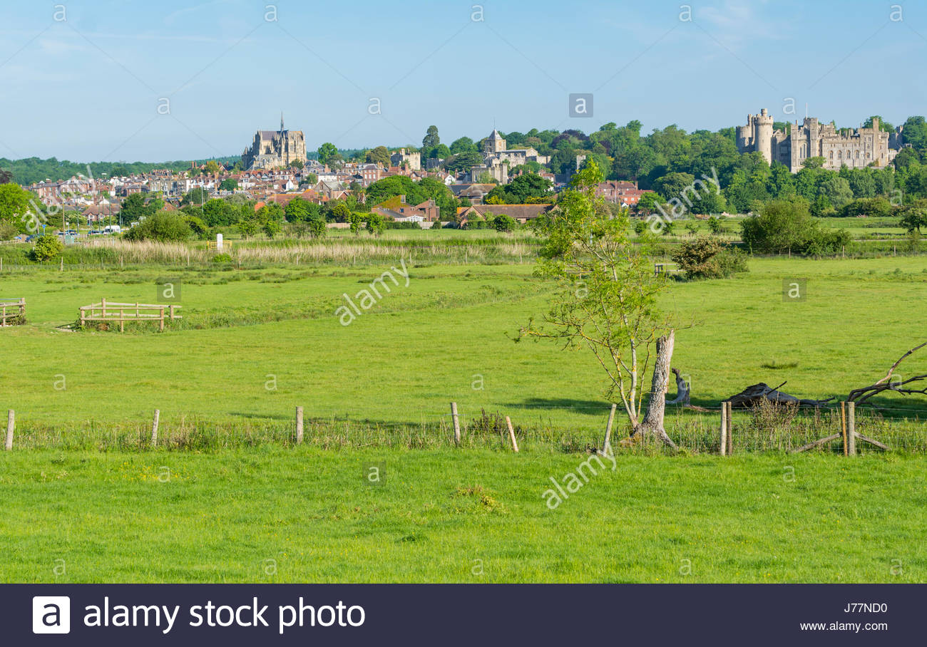 Arundel, West Sussex, England, UK. 24th May 2017. UK Weather. Early morning view of Arundel medieval market town Stock Photo
