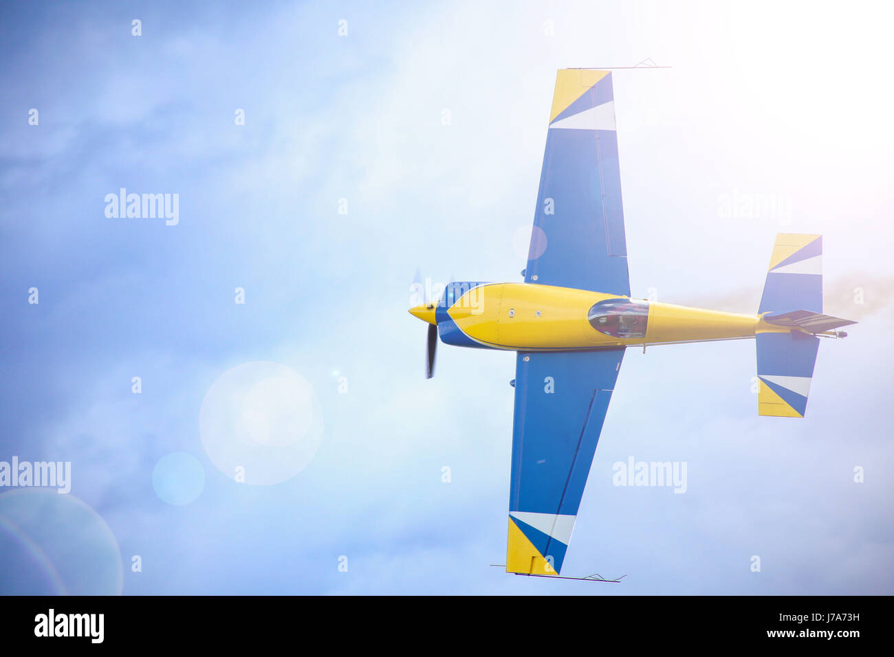 a-small-sport-plane-flying-in-the-sky-a-
