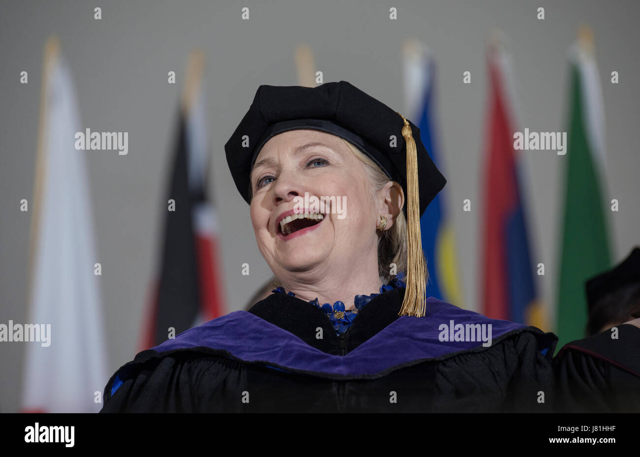 Wellesley, MA, USA. 26th May 2017.  2016 United States Democratic Presidential Candidate Hillary Clinton (Wellesley Stock Photo