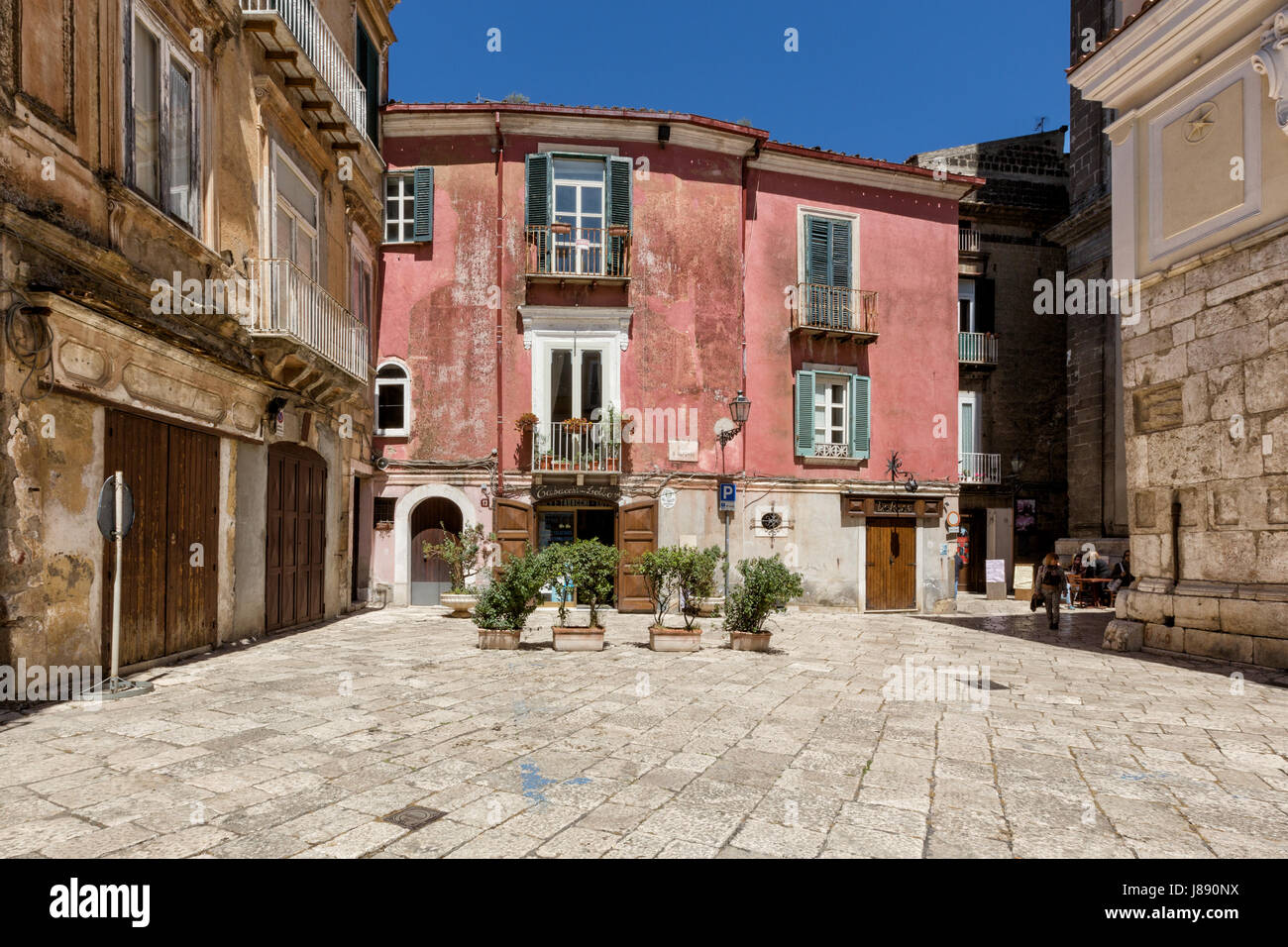 Sant'Agata dei Goti (Benevento, Italy) - View of the old town, Saint Alfonso square Stock Photo