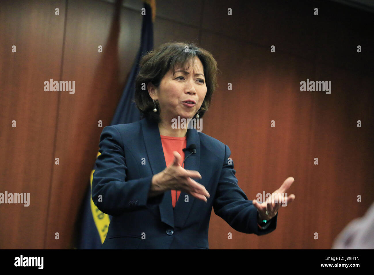 Giao Phan, executive director of Program Executive Office for Aircraft Carriers, shares her life lessons to success Stock Photo