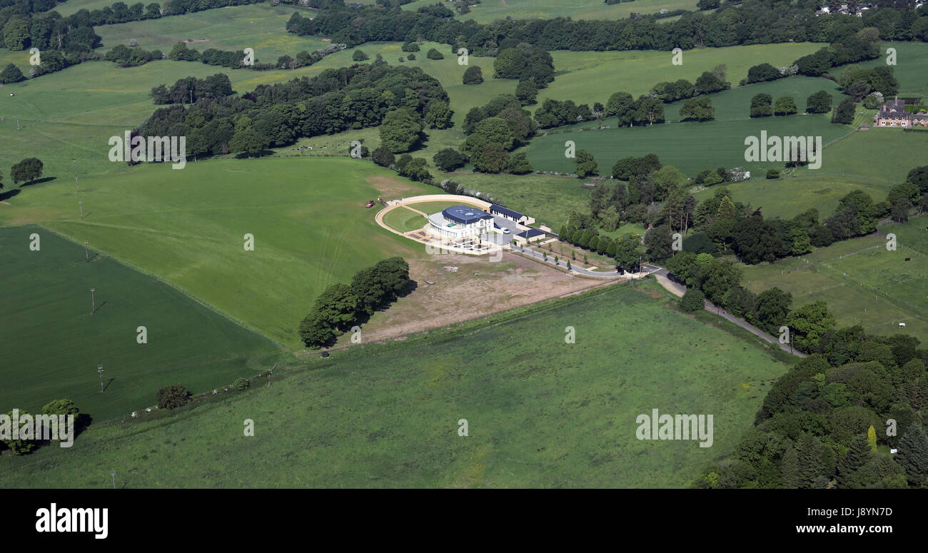 Aerial view of fancy new house near alderley edge for See images of my house