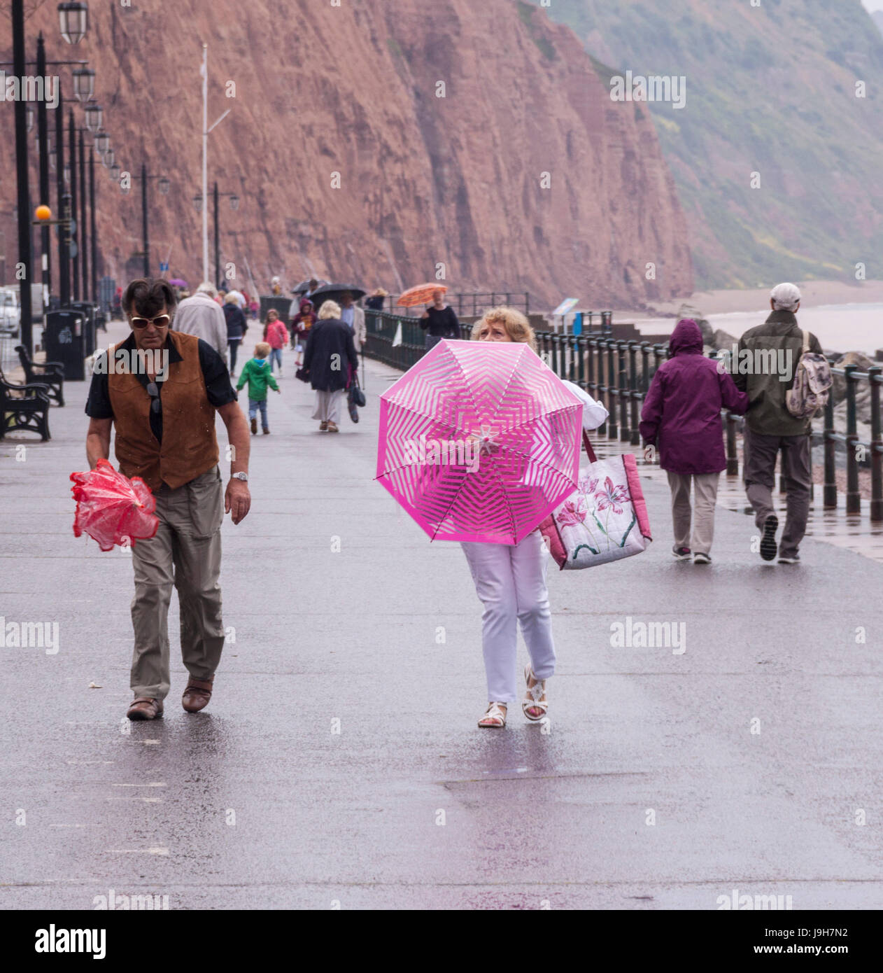 sidmouth-devon-2nd-june-17-umbrellas-to-