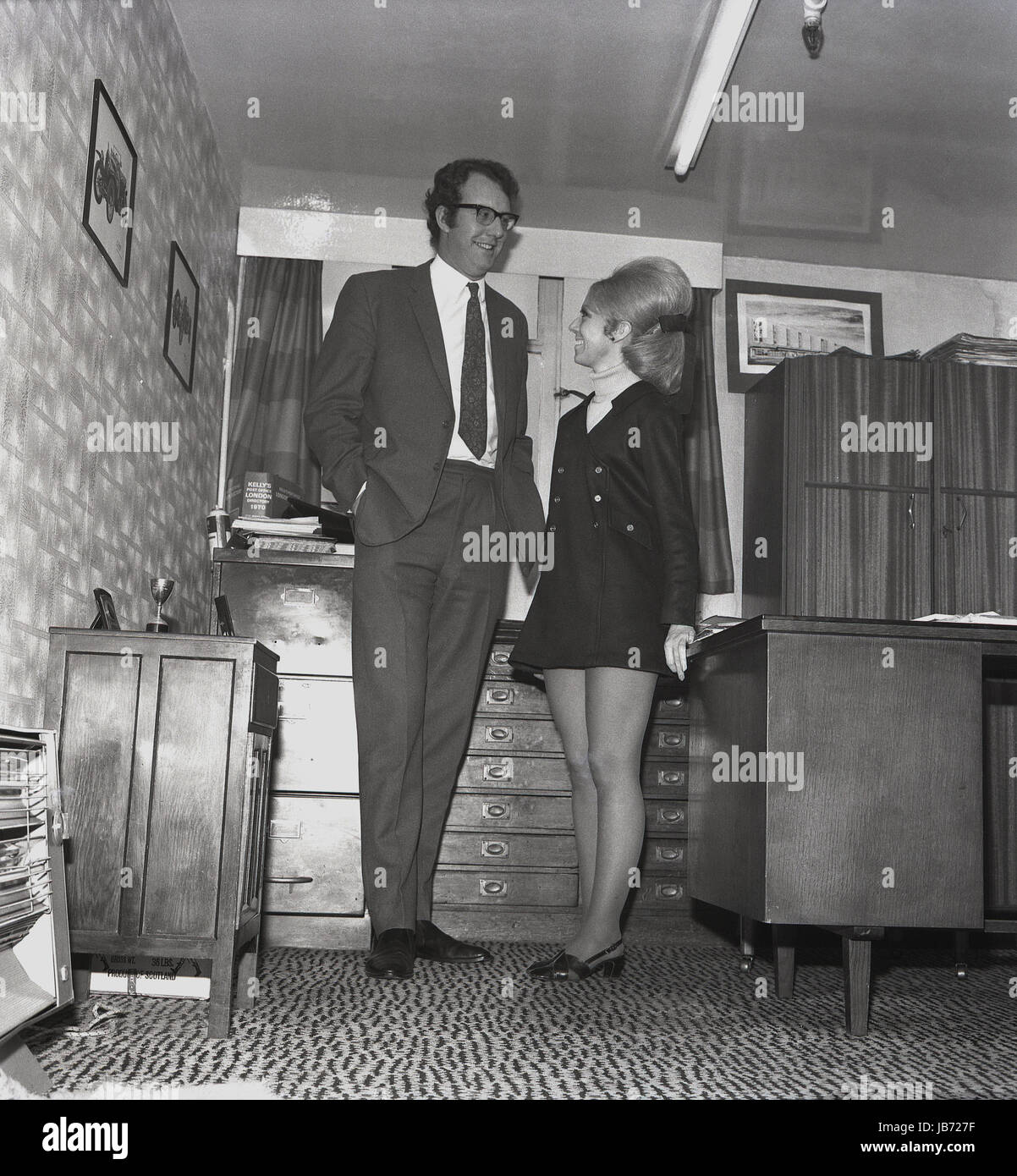 1970s Historical A Secretary Wearing A Mini Skirt And