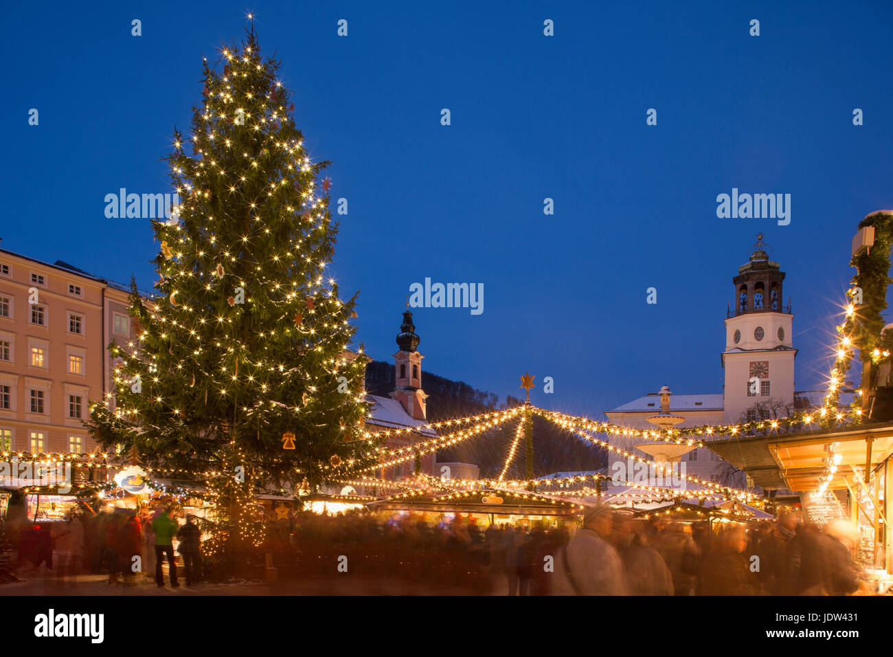Christmas Tree In Christmas Market, Salzburg, Austria