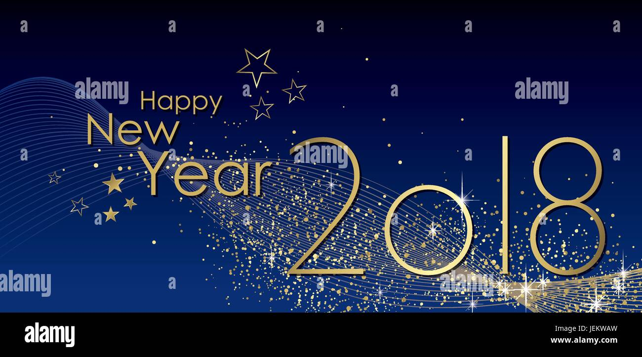 happy new year 2018 greeting card vector stock vector