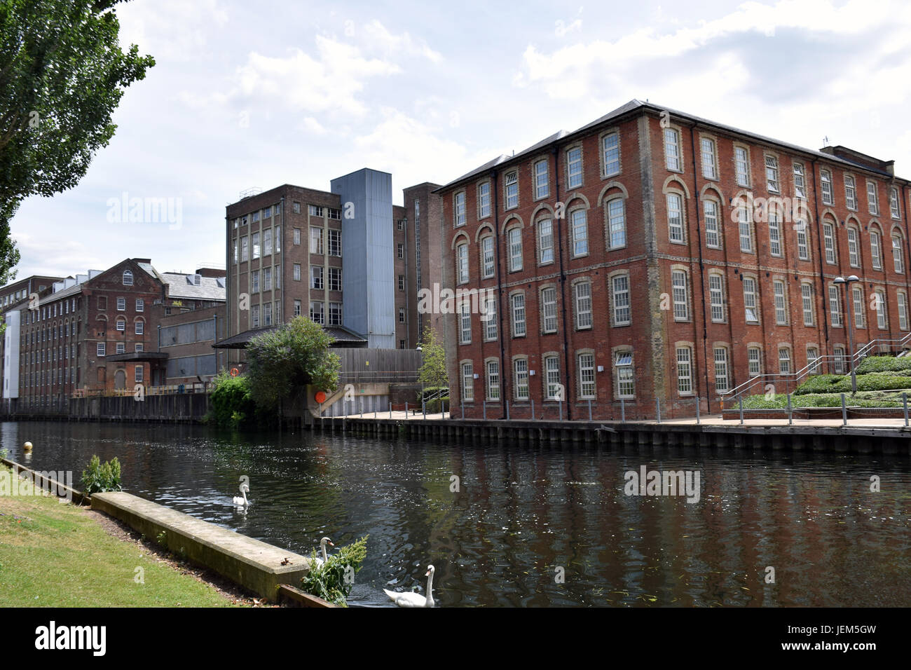 New Housing Developments On Bank Of River Wensum Norwich