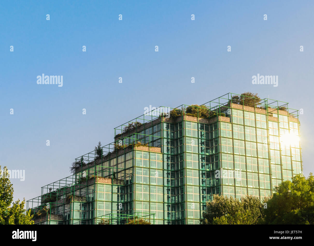 Agip headquarters in San Donato Milanese, Italy Stock Photo