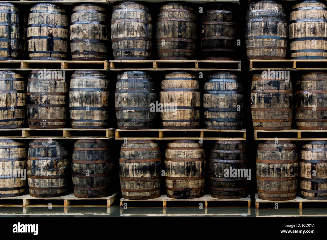 barrels-of-whiskey-in-a-distillery-in-we