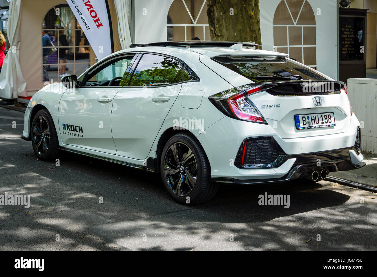 berlin june 17 2017 compact car honda civic 1 5 sport plus 2017 stock photo royalty free. Black Bedroom Furniture Sets. Home Design Ideas