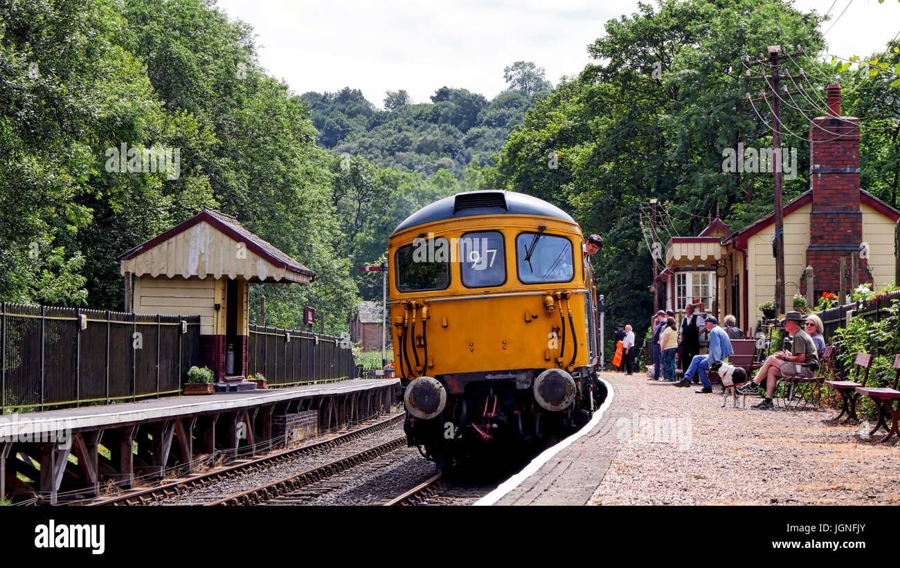 Churnet Valley, UK. 8th July, 2017. The UK's longest real ale festival the Churnet Valley Rail Ale Trail Beer festival Stock Photo