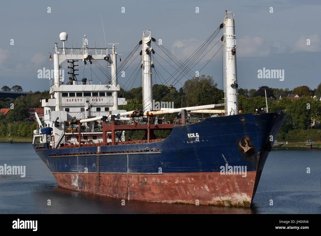 General Cargo Ship Ece G Stock Photo