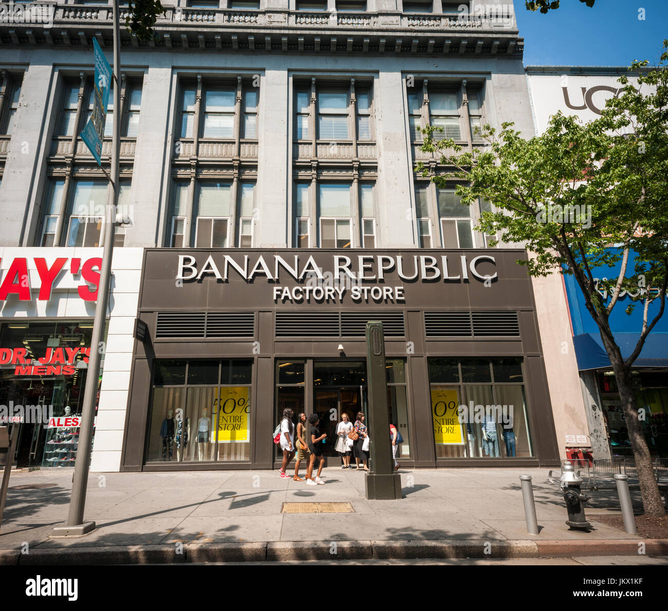 A Banana Republic Factory store on Fulton Street in ...