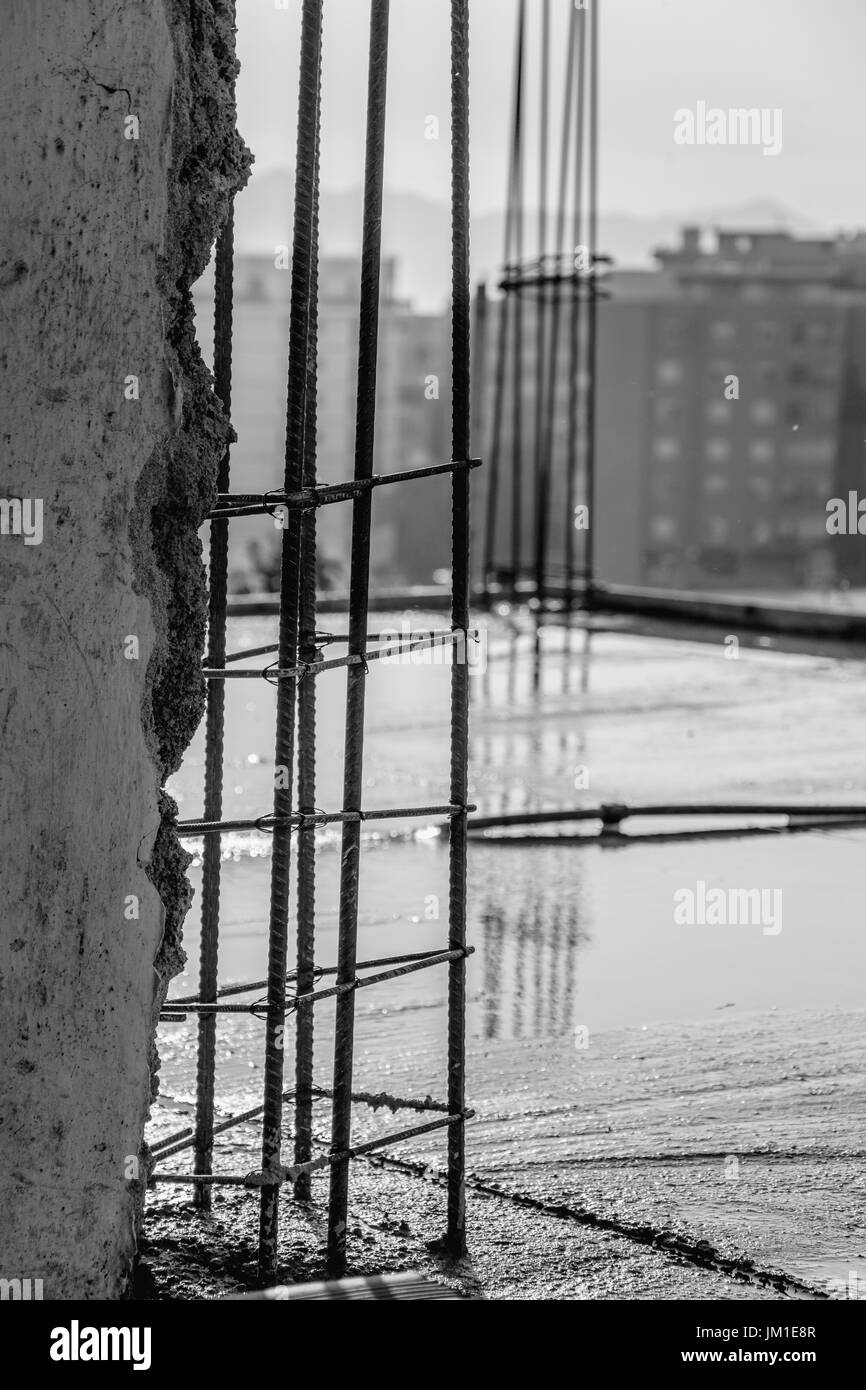 Black Metal Pillar Building : Pillars black and white stock photos images alamy