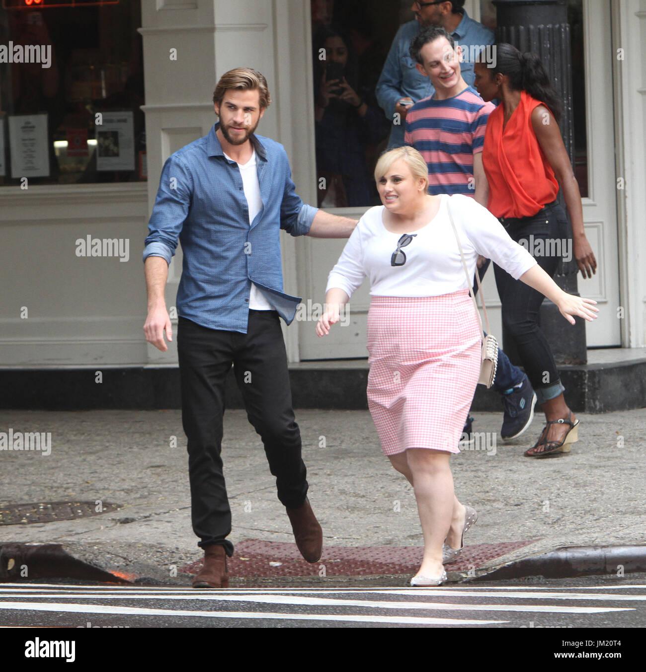 Liam Hemsworth Dawn Of A Rebel: NEW YORK, NY July 24, 2017 Liam Hemsworth, Rebel Wilson