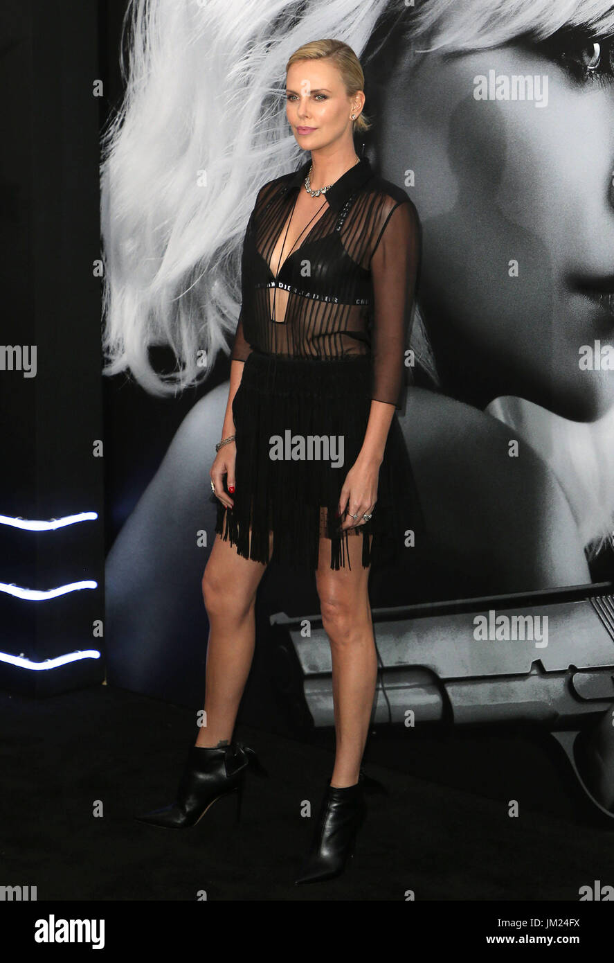 July 24, 2017 - Los Angeles, U.S. - 24 July 2017 - Los Angeles, California - Charlize Theron. ''Atomic Blonde'' - Stock Image