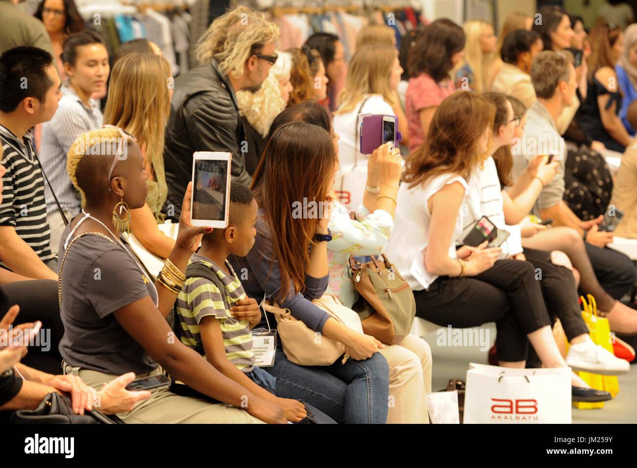 Watching Fashion Show Stock Photos & Watching Fashion Show ...
