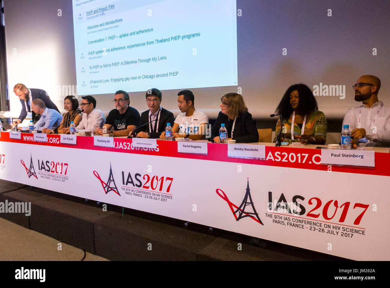 Paris, France. I.A.S. International AIDS Society Congress, Midnight Poonkasetwattana, Asia Pacific Coalition on - Stock Image
