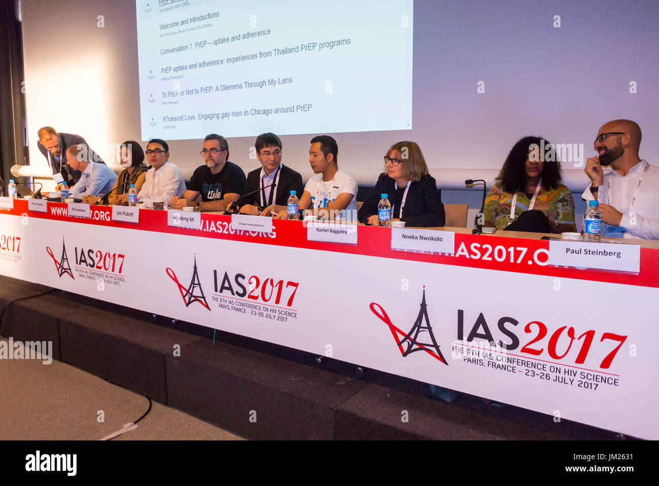 Paris, France, I.A.S. International AIDS Society Congress,  Rachel Baggaley, World Health Organisation (WHO), Guodong - Stock Image