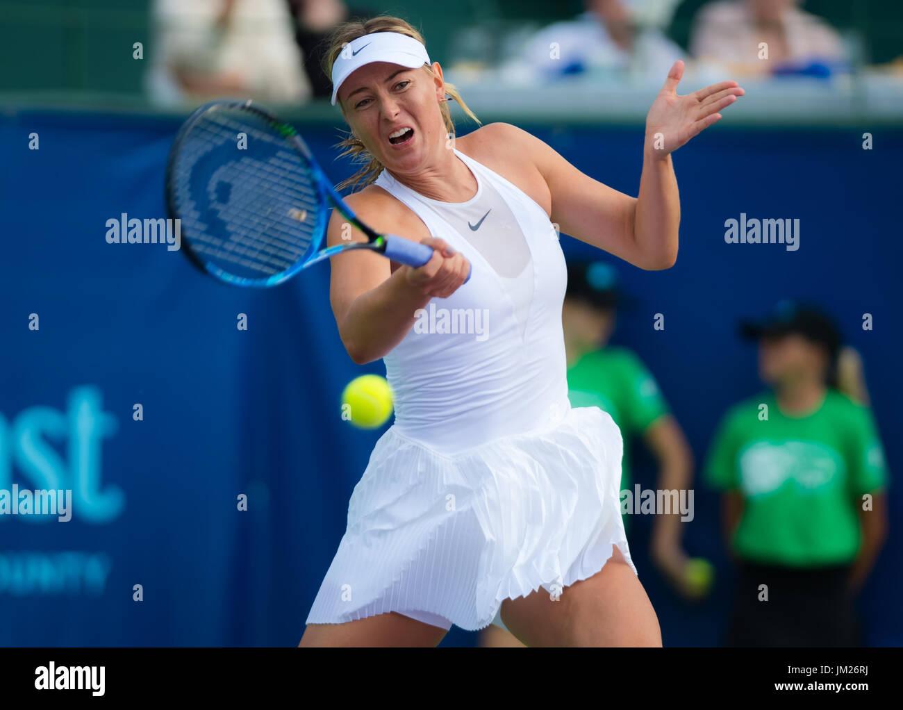 Newport Beach, United States. 24 July, 2017. Maria Sharapova at the World Team Tennis match between the OC Breakers - Stock Image