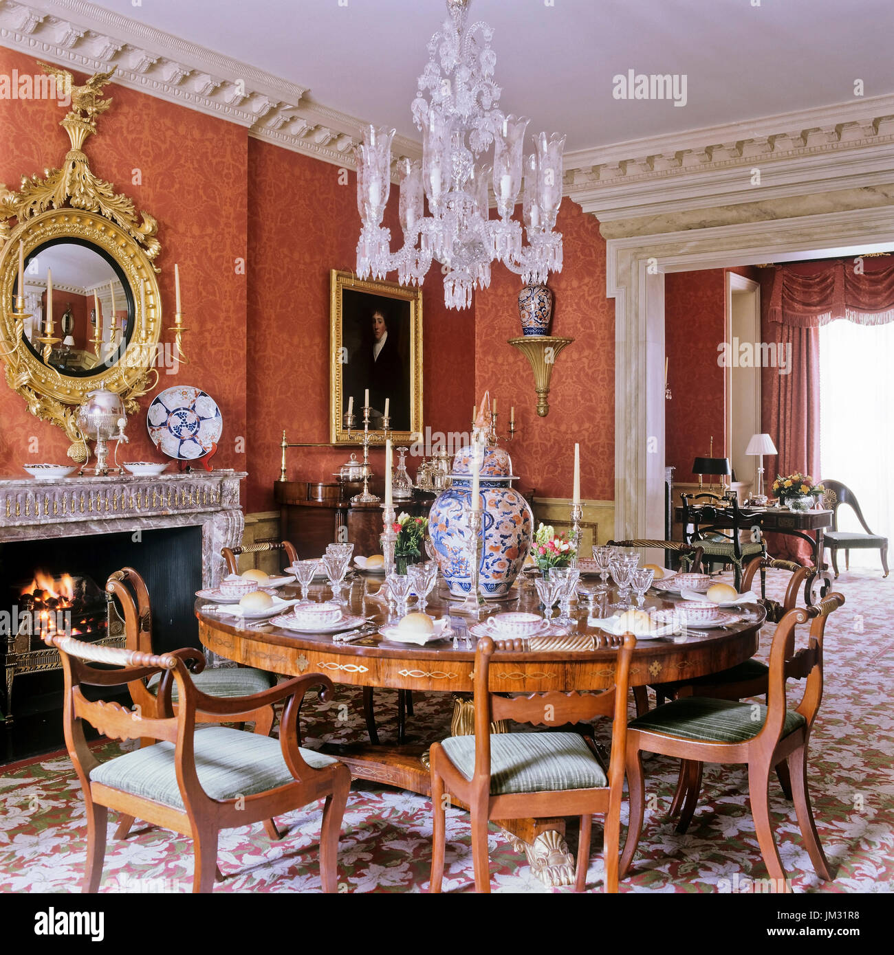 Victorian Style Dining Room: Candle Lit Room Stock Photos & Candle Lit Room Stock