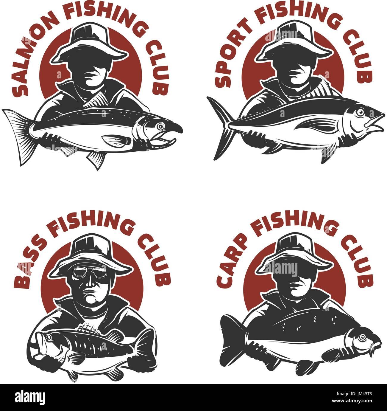 японские рыболовные логотипы