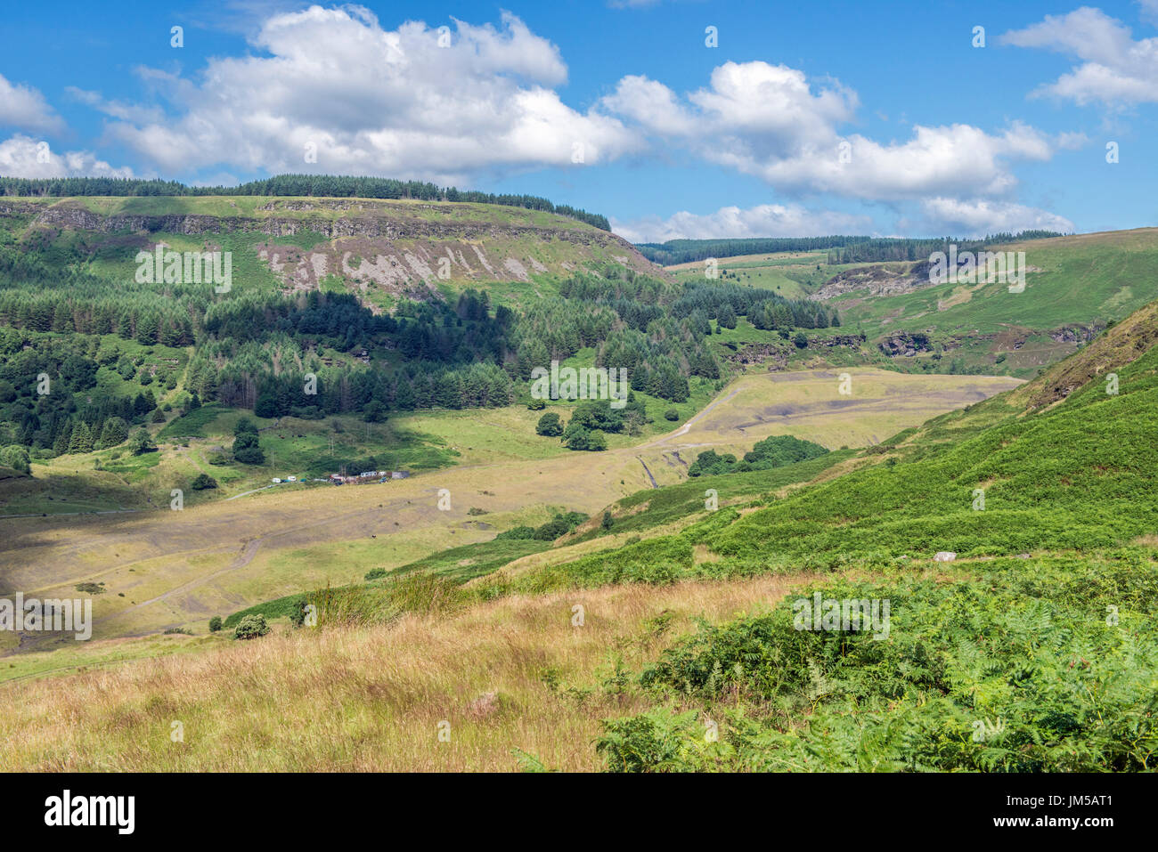 The Upper Reaches of the Rhondda Fawr Valley in south Wales - Stock Image