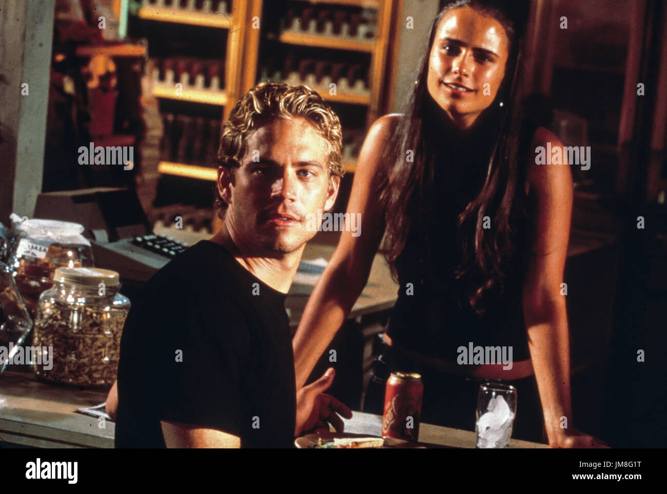 fast and the furious, paul walker, jordanna brewster, 2001 - Stock Image