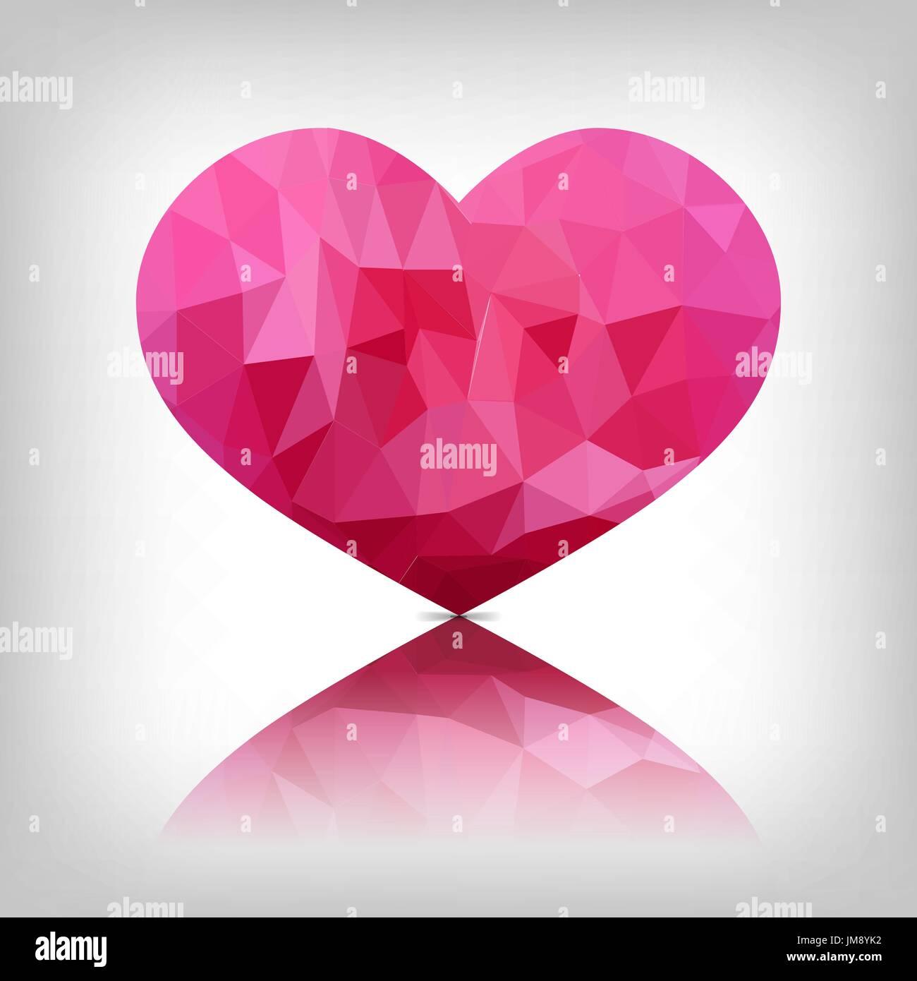Fascinating pink diamond vector photos