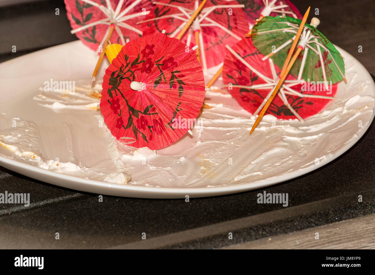Empty Chocolate Cake Dish