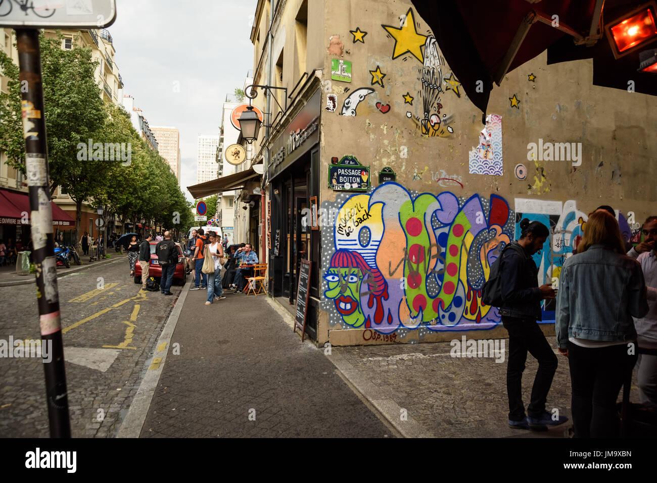 Butte aux cailles stock photos butte aux cailles stock images alamy - Restaurant buttes aux cailles ...