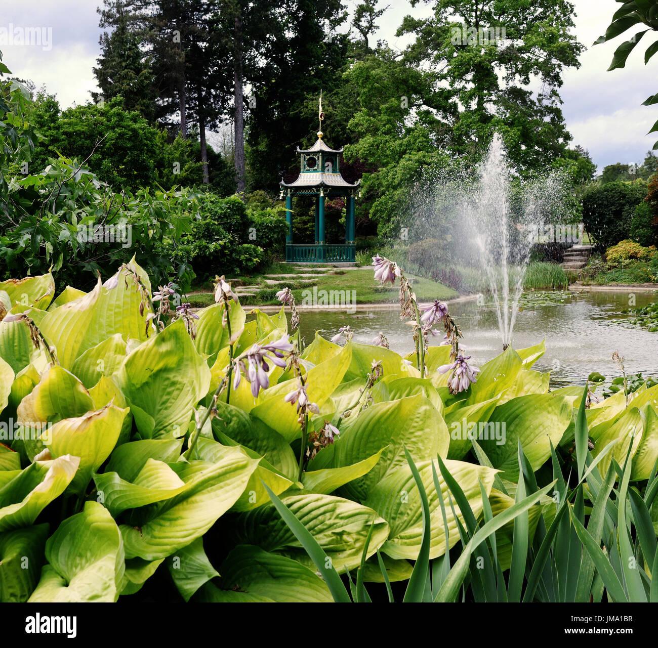 Japanese garden fountain stock photos japanese garden for Formal japanese garden