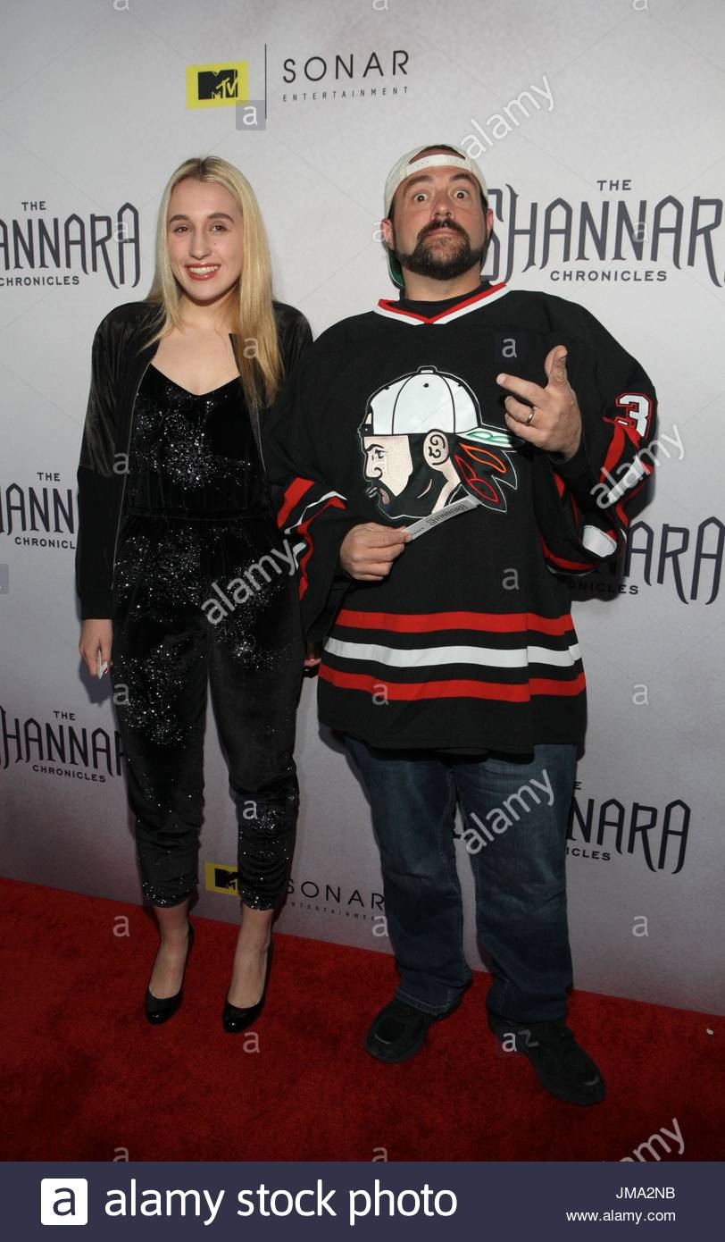Kevin Smith, Harley Quinn Smith. Arrivals at the series premiere party for 'The Shannara Chronicles' On - Stock Image