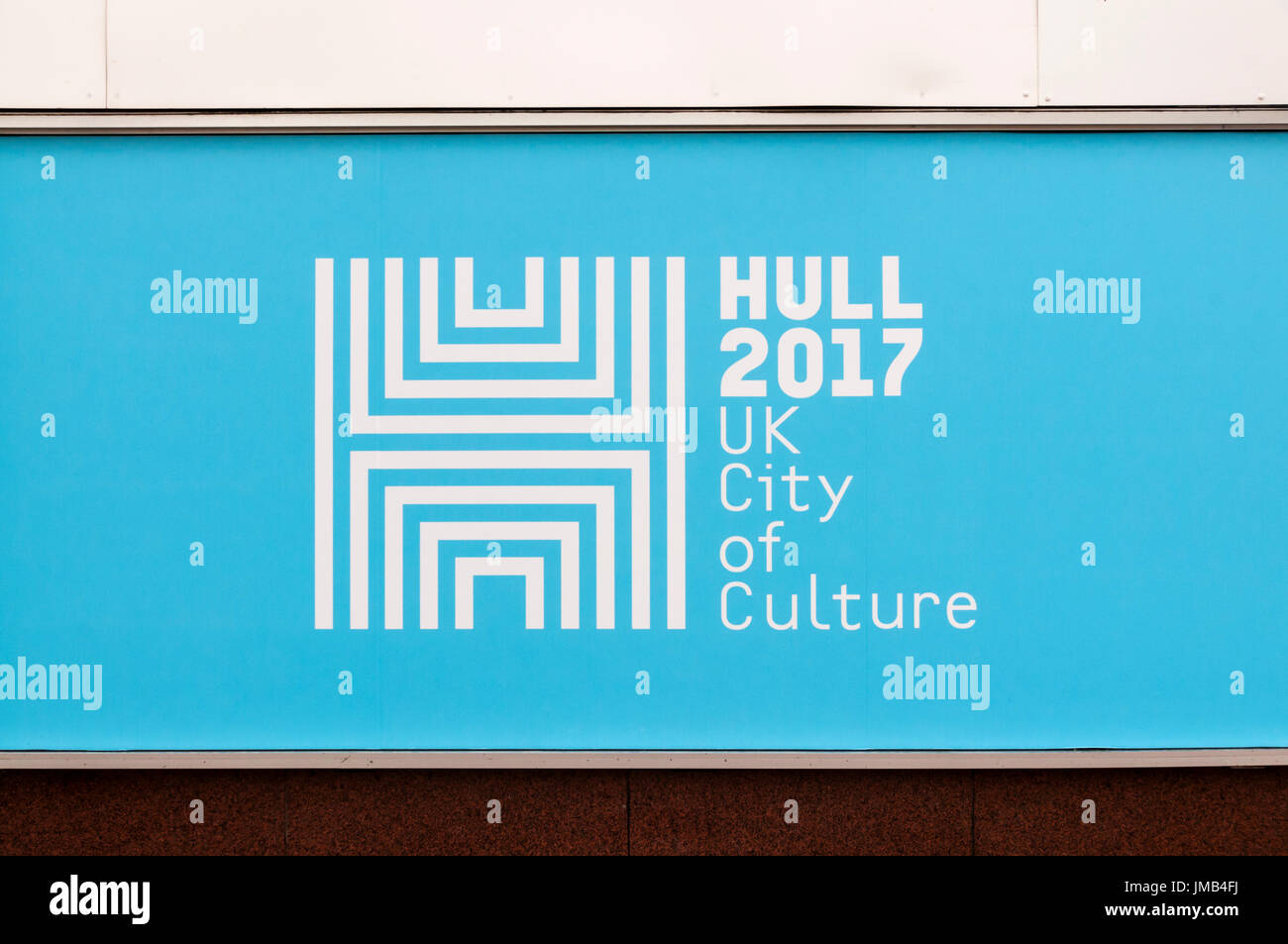 Welcome To Hull Sign Painted On Wall Of Building