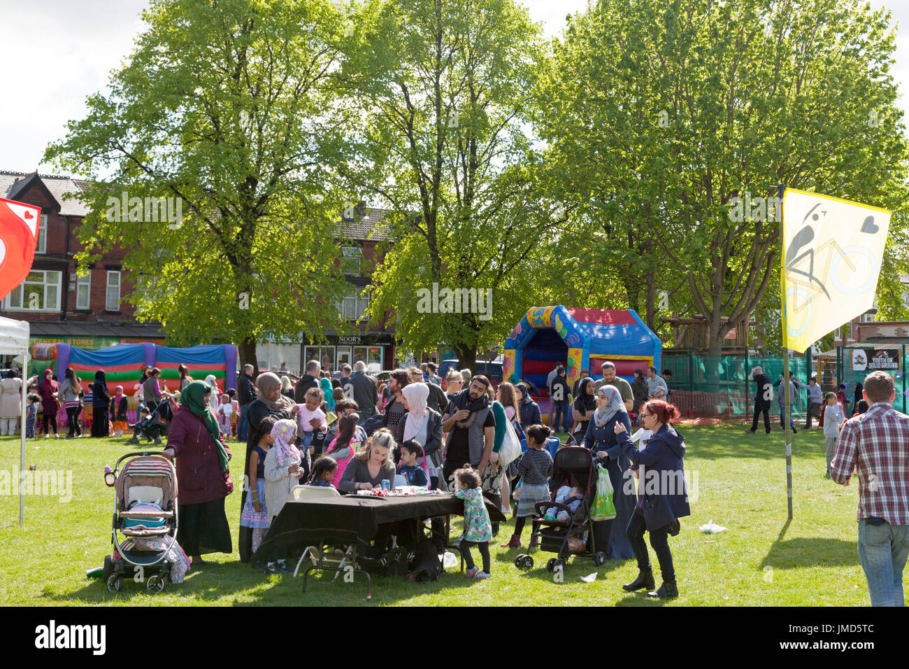 People at the Celebrate Festival, Whalley Range, Greater Manchester - Stock Image