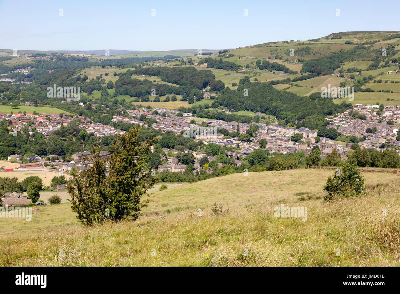 View of Mytholmroyd, West Yorkshire - Stock Image