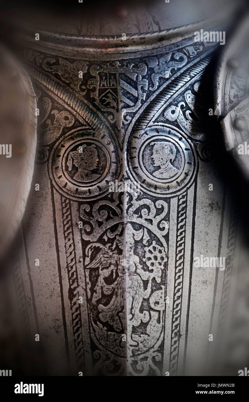 armour breastplate - Stock Image