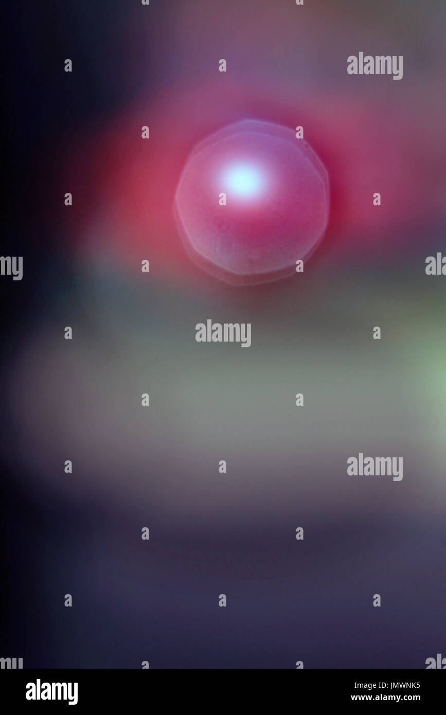 abstract sphere floating in space - Stock Image