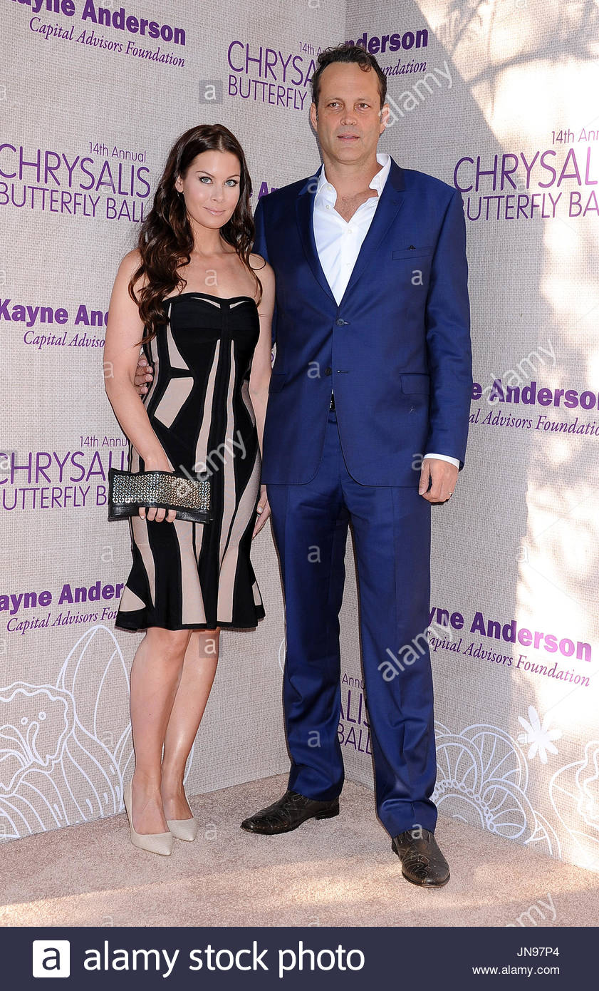 Vince Vaughn. Celebrities arrive at the 14th Annual Chrysalis Butterfly Ball, held at the home of Susan Harris and - Stock Image