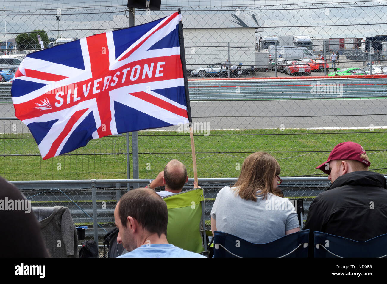 Silverstone Flag at Formula1 racing circuit - Stock Image