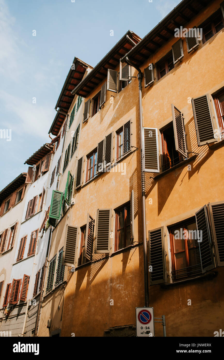 Streets of Florence, Italy - Stock Image