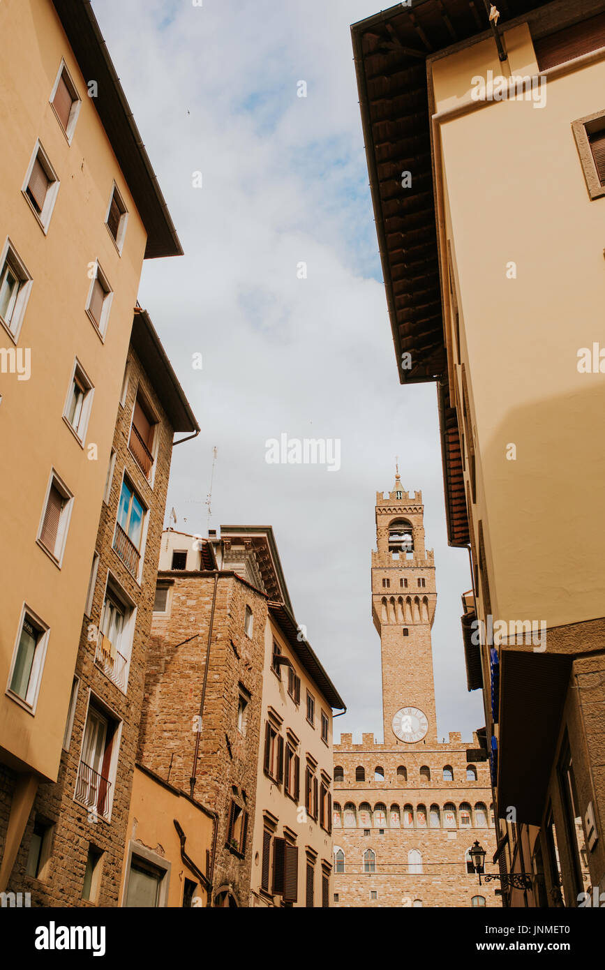 Streets of Florence in Italy - Stock Image