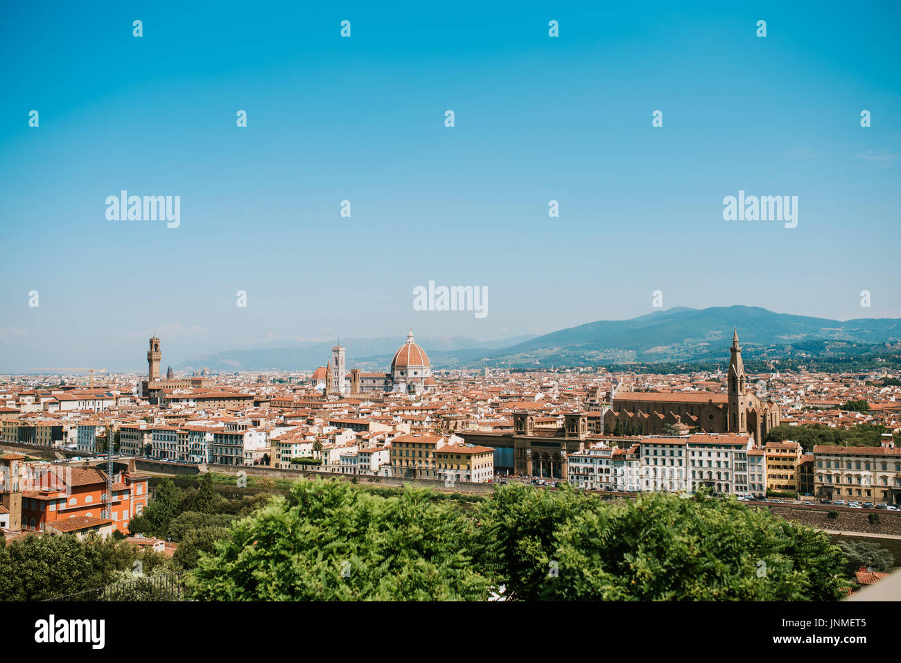 View of Florence from Piazzale Michelangelo, Florence, Italy - Stock Image