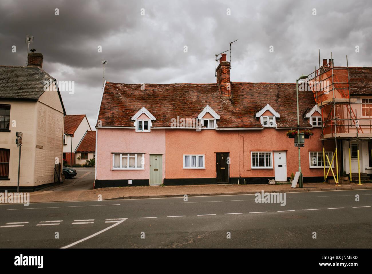 Street detail in Lavenham, England - Stock Image